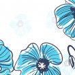 Vecteur: Blue poppies