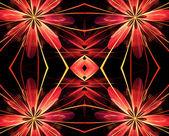 Fondo abstracto fractal rojo — Foto de Stock