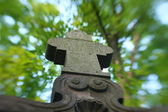Stone cross — Foto de Stock
