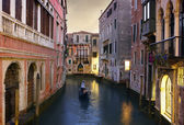 Traditional Venice gondola ride — Stock Photo
