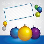 новогодний фон с баннер для текста — Cтоковый вектор