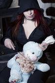 Zabójca królik — Zdjęcie stockowe