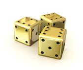 Golden dices — Stock Photo
