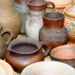 Stock Photo: Potter's jugs