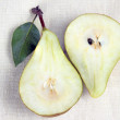 Two halves of pears — Stock Photo