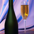 Glass of champagne — Stock Photo