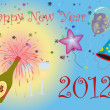 Happy New Year 2012 illustration — Stock Photo