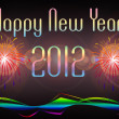 Stock Photo: Happy New Year 2012 illustration