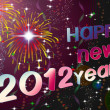 Happy New Year 2012 illustration - Stock Photo