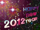 Happy New Year 2012 illustration — Stockfoto
