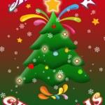 Merry Christmas illustration card — Stock Photo #7926082