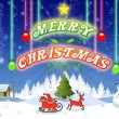 Stock Photo: Merry Christmas illustration card