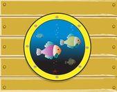 Submarine window — Stock Photo