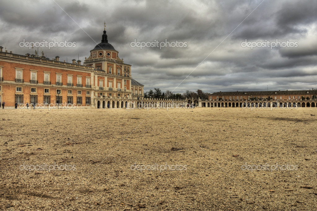 Royal palace in Aranjuez near to Madrid, Spain — Stock Photo #7500999