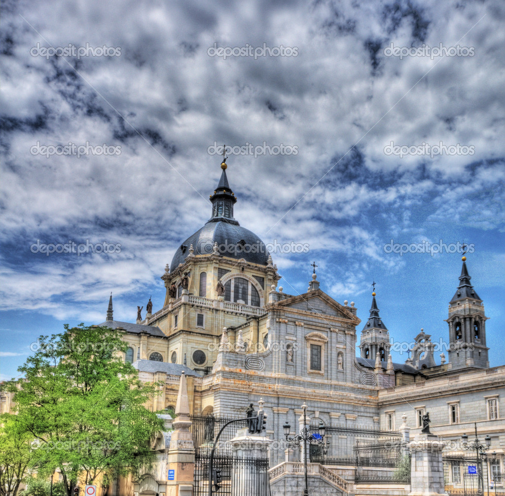 Cathedral of Madrid ,Spain  — Foto Stock #7729014