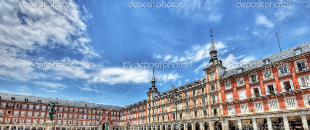 Plaza mayor, Madrid, Spain  — Stock Photo #7729015