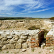 Scene from ruins of Roman fort in Romania — ストック写真