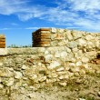 Ruins of an very old wall in Potaissa fortress — ストック写真