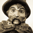 ������, ������: Portrait of night watchman wooden sculpture