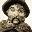 Stock Photo: Portrait of night watchman, wooden sculpture