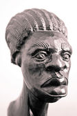Wood sculpture of black man from Cuba — Stock Photo
