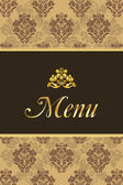 Cover for restaurant menu with vintage elements — Vector de stock