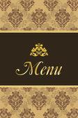 Coperchio per menu ristorante con elementi vintage — Vettoriale Stock