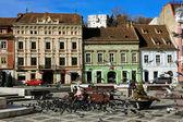 Scena z piata sfatului, braszów - rumunia — Zdjęcie stockowe