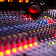 Music mixer desk - Stock Photo