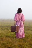 Gipsy leaving — Stock Photo