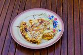Pancake dessert plate — Stock Photo