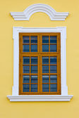 Window with old style frame — Stock Photo