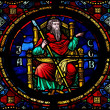 Stock Photo: Jacob stained glass window