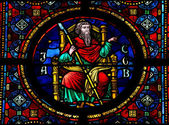 Jacob stained glass window — Stock Photo