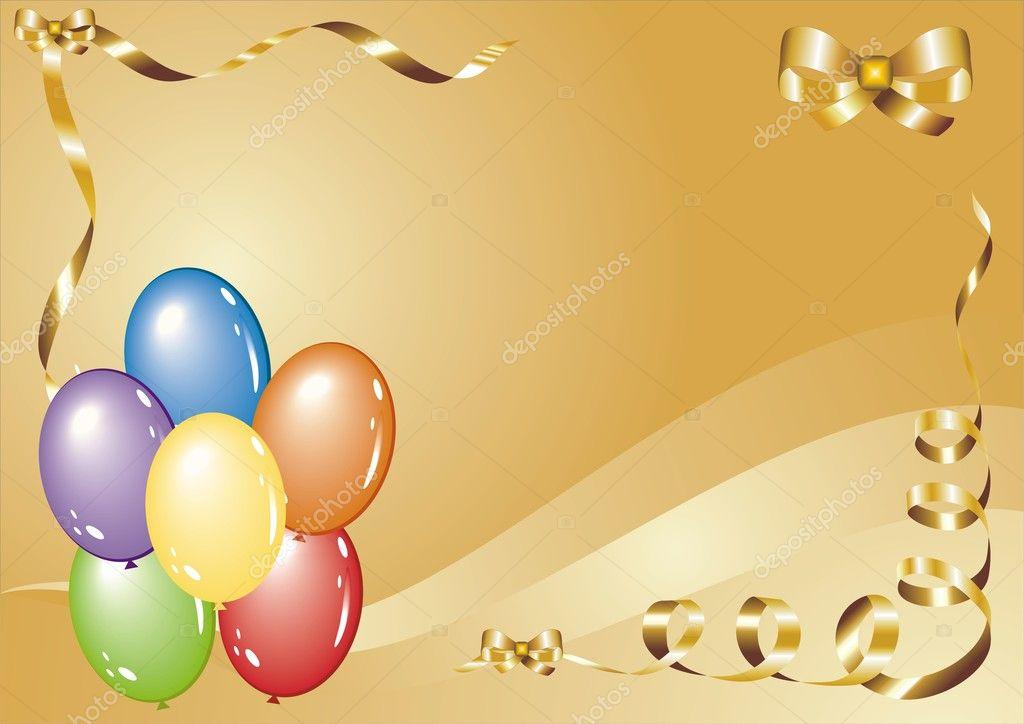 Картинка с шариками для открытки