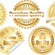 Royalty-Free Stock Vector Image: Vector gold  premium quality label