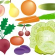 Royalty-Free Stock Vector Image: Fruits and vegetables vector set