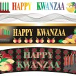 Kwanzaa banner in vector — Stock Vector