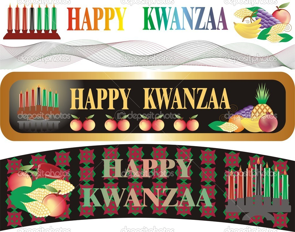Kwanzaa banner in vector — Stock Vector #7631535