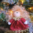 Christmas tree decorated with toys — Foto de Stock