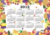 Vector kalender 2012 in kleurrijke frame — Stockvector