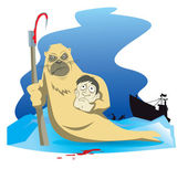 Seal-killer — Vector de stock