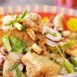 Stock Photo: Fried seafood noodles