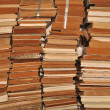 Stock Photo: A pile of old books