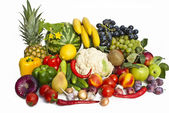 The group of fruits and vegetables — Stock Photo