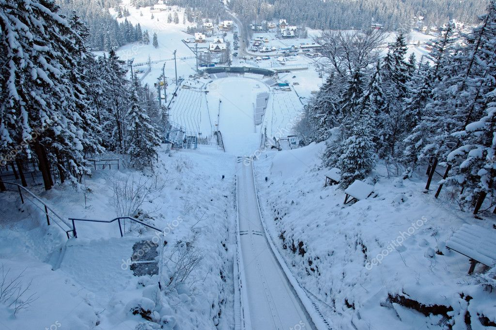 Winter photo of ski jump  Stock Photo #7322503