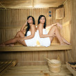 Young Women in sauna — Stock Photo #7705781