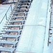 Photo of ski jump stairs — Stock Photo