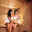 Young Women in sauna — Stock Photo #7819980