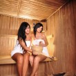 Stock Photo: Young Women in sauna